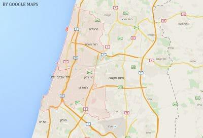 מפה של תל אביב